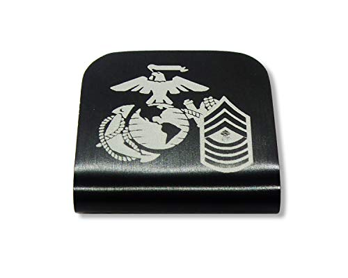 Morale Tags USMC EGA MGYSGT E-9 for Your Hat! Clips Right On! Master Gunnery Sergeant - Gunnery Master Sergeant Usmc