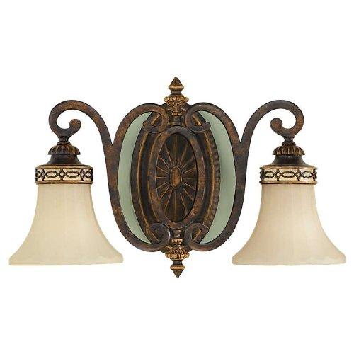 Murray Feiss MF VS11202 Edwardian 2 Light Bathroom Vanity Light, Walnut