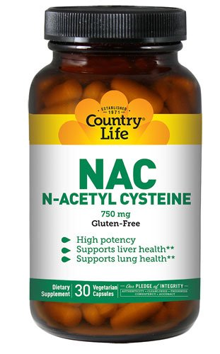 Country Life NAC N-Acetyl Cysteine -- 750 mg - 30 Vegetar...
