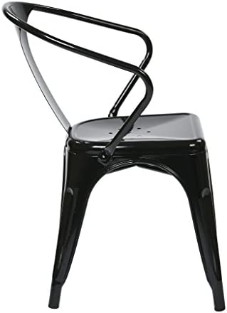 OSP Home Furnishings Patterson 30-inch Metal Frame Chair