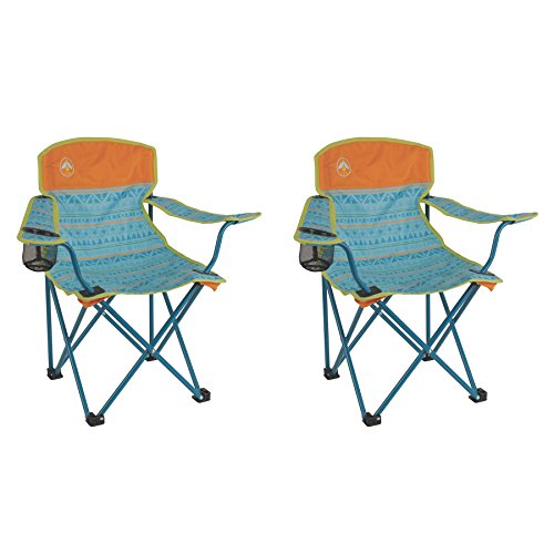 Coleman Kids Camping Glow-in-The-Dark Teal Quad Chairs (2 Pack)
