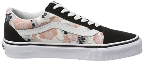 Vans Taille California Skool Poppy Chaussures de Old Bleu Running Femme Unique Multicolore UxUaqZwr01
