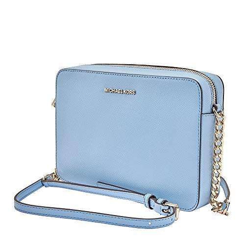 Michael Kors light blue purse | Michael Kors Jet Set Large Saffiano Leather Crossbody- Powder Blue