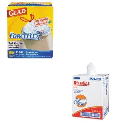 KITCOX70427KIM05860 - Value Kit - Wypall 05860 Professional Towels (KIM05860) and Glad ForceFlex Tall-Kitchen Drawstring Bags (COX70427)