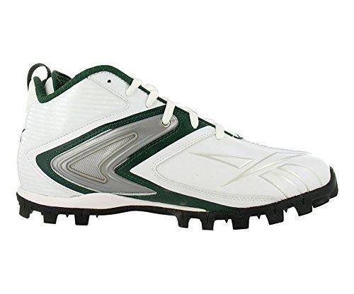 Reebok Pro Ferocious AT Herren Fußballschuhe Größe US 13.5, normale Breite, Farbe Weiß / Grün / Silber