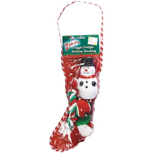 Zanies Doggie Delight Holiday Stockings — Festive Holiday Toys for Dogs
