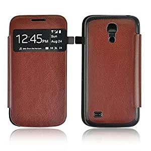 Mini - Angibabe Crazy Horse Leather Case with Dormancy Sleep Function for Samsung Galaxy S4 Mini I919 ,Color: Black