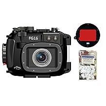 Canon G16 Underwater Camera Housing Fantasea FG16 w/ Red Filter + FREEBIE