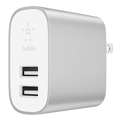 Belkin Dual Port - Belkin Boost Charge 2-Port Wall Charger - 24W Multi-USB Charger for iPhone XS, XS Max, XR, Samsung Note9, S9, S9+ and more