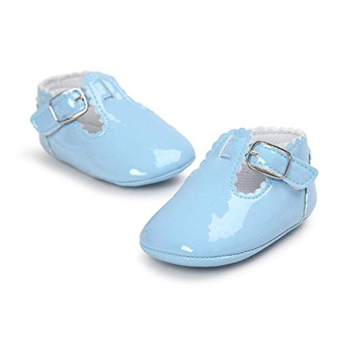 Zapatos Bebé SMARTLADY Infantil Recién Del Niño Niñas Primeros pasos Zapatillas Azul