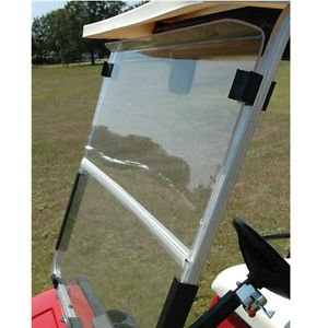 Club Car Replacement Body (Club Car DS 1982-2000.5 Clear Fold Down Impact Resistant Windshield for CC DS 82-2000.5 Golf Cart)