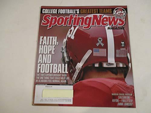 691f0ecdd55f SEPTEMBER 12, 2011 SPORTING NEWS MAGAZINE FEATURING ALABAMA CRIMSON TIDE  *COLLEGE FOOTBALL'S GREATEST TEAMS* *FAITH, HOPE AND FOOTBALL*