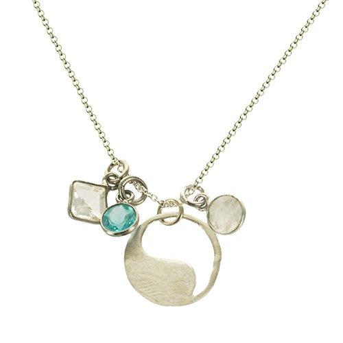 """b.u. Harmony Gemstone Sterling Silver Charm Necklace 16-18"""" from b.u. Jewelry"""