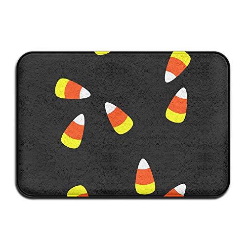 (YangPa Halloween Candy Corn Black Clip Art Outdoor Rubber Mat Front Door Mats Porch Garage Large Flow Slip Entry Carpet Standard Rug Home 23.62