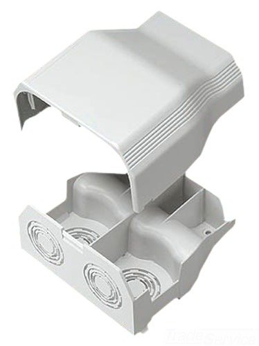 Panduit T70EEIW Power Rated Raceway Entrance End Fitting, Off White Ceiling Entry Raceway Fitting