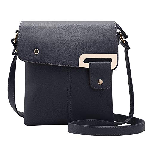 Blu Leather Bag - GLITZALL Crossbody Bag Small Satchel Faux Leather Wallet Cute Case School Messenger Bag (Blue)