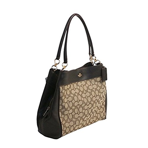 COACH Lexy Shoulder Bag in Outline Signature khaki/chalk F57612 (Khaki/Brown) (Coach Purse Outlet)