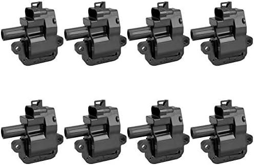 98-02 FIREBIRD 01-02 SAVANA SIERRA 3500 SIERRA 2500 HD YUKON XL 2500-01-02 EXPRESS 3500 04-05 CTS 8 PCS Ignition Coil For V8 8.1L 7.4L 5.7L 98-99 P30 // 98-02 CAMARO // 97-04 CORVETTE