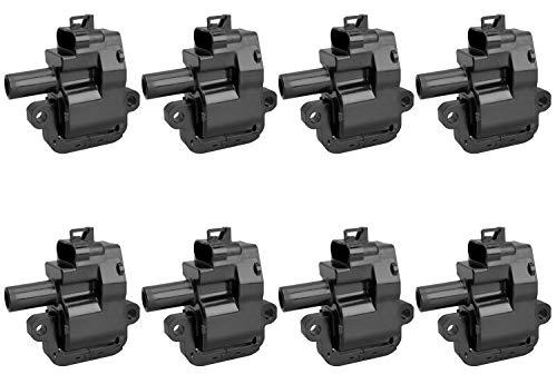 Pack of 8 Ignition Coils for - V8 5.7L 8.1L - CTS Avalanche Camaro Corvette Silverado Yukon Firebird Chevrolet Silverado GMC Sierra - Compatible with C1144 UF192 12556450 12558948