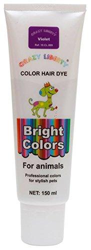 CRAZY LIBERTY Dog Hair Dye Gel, 5 Ounces, Permanent, Non-Toxic (Violet)