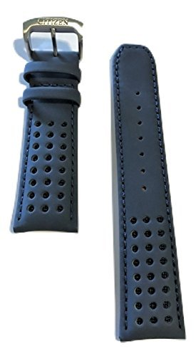- Original Citizen Blue Leather Band Strap for Citizen Blue Angels Watch AT8020-03L
