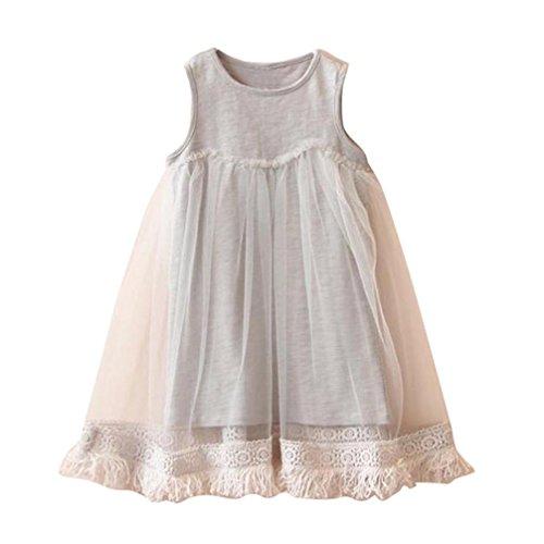Girls Dress Franterd Cute Tassels Sleeveless Tutu Party