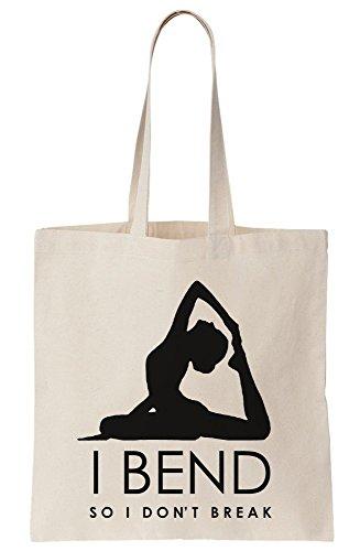 So Yoga I Artwork Break Bend I Canvas Tote Not Do Bag C7W5B