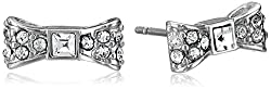 New York Bow Pave Stud Earrings
