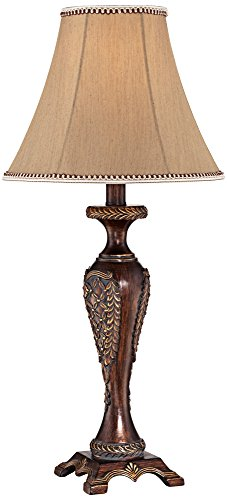 Hanna Bronze Candlestick Table Lamp (Bronze Leaf Accents Table Lamp)