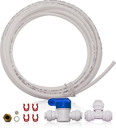 APEC Water Systems ICEMAKER-KIT-RO-1-4 Ice Maker Kit for Reverse Osmosis Systems, Refrigerator & Water Filters