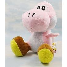 Super Mario Pink Yoshi soft Plush Stuffed Animals Doll Kids Toys 15 cm