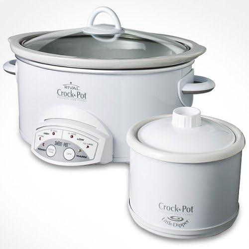 Amazon Com Rival Smart Pot Crock Pot Slow Cooker 38511ldw Kitchen Dining