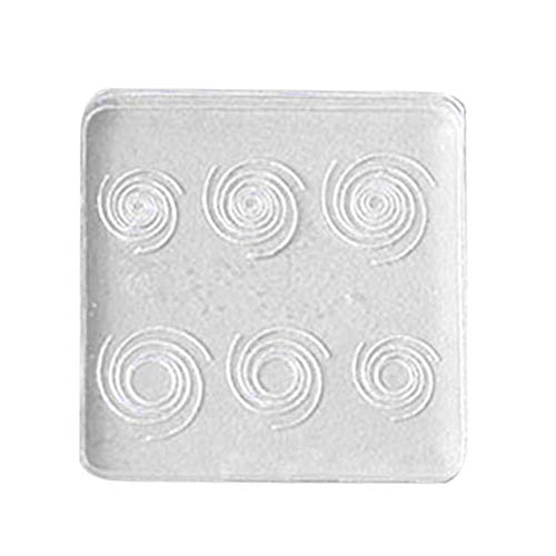 opOpb213IL Silicone Mold DIY Fondant Mould Craft Tool,Star Vortex Transparent Silicone Mold DIY Handmade Craft Jewelry Making Tools - S