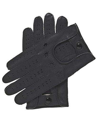 Fratelli Orsini Men's Handsewn Deerskin Driving Gloves Size 8 Color Black -