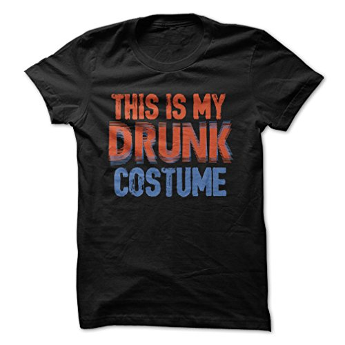This Is My Drunk Costume-T-Shirt/Black/S - Made On Demand in USA (Drunk 1 Costume Tshirt)