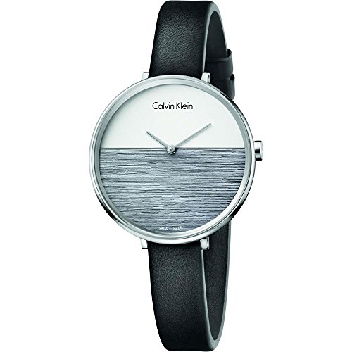 Calvin Klein Women's Analogue Quartz Watch with Leather Strap K7A231C3