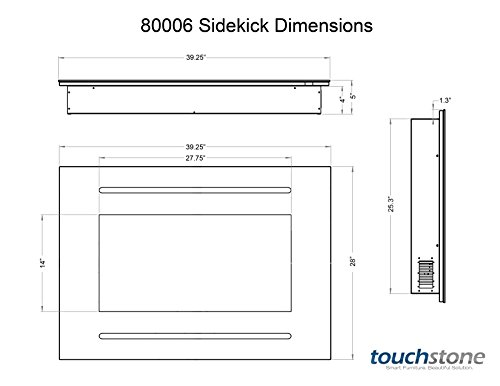 Touchstone 80006 Forte In-Wall Recessed Electric Fireplace, 40 ...