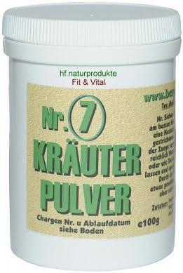 Bitterkräuterpulver 7Kräuter von Bergmeister Kräuter 100 g in gemahlener Form als Pulver beinhalten Pfefferminze...