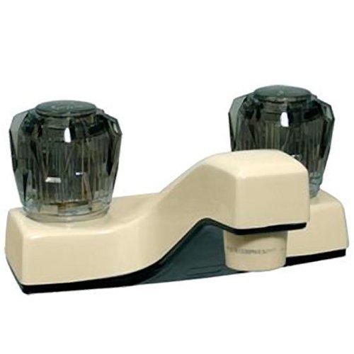 RV Trailer Camper 2-Handle 4 Lavatory Faucet Biscuit PHOENIX P4032BA-i