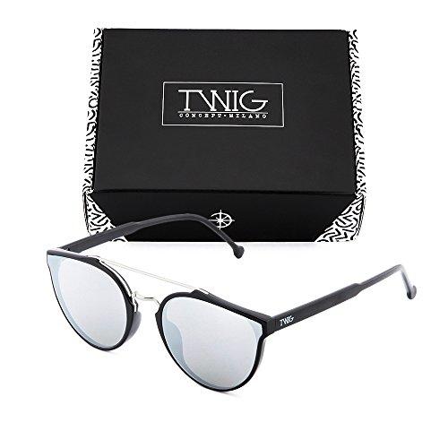 degradadas Gafas de espejo Plata Negro CARTESIO sol mujer TWIG hombre qxOx4gnaw