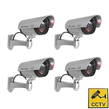 x 4 cámaras de seguridad falsa - completamente cámara realista de cámaras de seguridad de Save: Amazon.es: Bricolaje y herramientas
