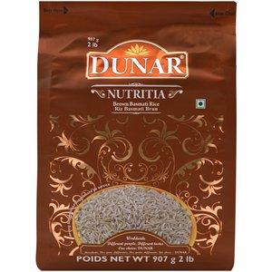 Dunar Legacy Brown Basmati Rice 2 Pounds (Pack of 2)