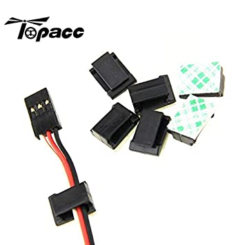 10Pcs Servo Cable Safety Buckle Clip with Double Sided Foam Adhesive Tapes