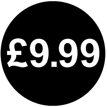 Audioprint ltd 1000 pack of £9 99 price stickers 30mm black