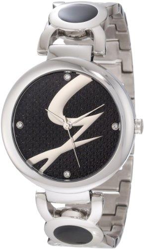 (Gattinoni Women's W0197LSSBLK Astra Stainless Steel Black Logo Dial)