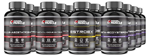 The 15-Week Sward's Stack -- The Ultimate Muscle-Building Stack! -- 17-Methyl-dione Extreme, 8,11,13-Abietatriene, Beta-Ecdysterone, EstroEx The Ultimate Stack