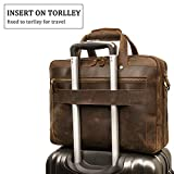 Augus Leather Briefcase for Men Business Travel