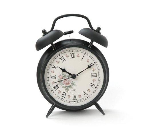 Retro Twin Bell Alarm Clock (Flowers) by Alarm Clock