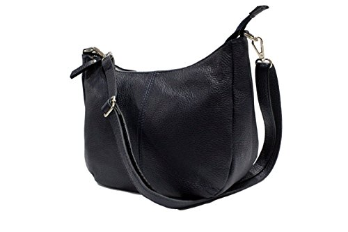 Chloly - Crossed Another Navy Leather Bag For Woman
