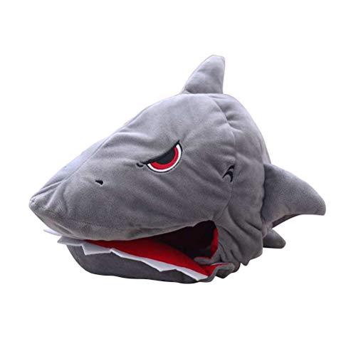Shark Head Costume (Toyvian Grey Shark Hat, Great Cosplay Costumes Accessories for)